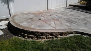 raised patio #1
